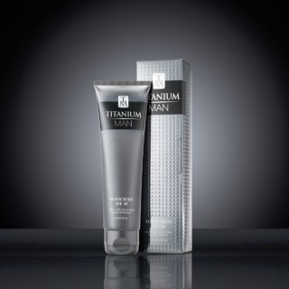 Titanium Man SPF 30 100ml Tube & Carton on black