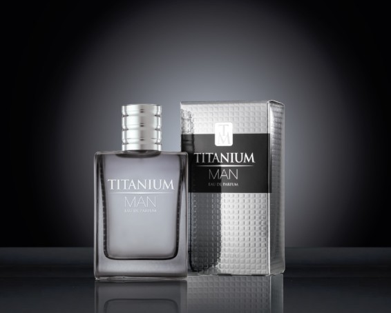 Titanium Man EDP Carton & Bottle on black
